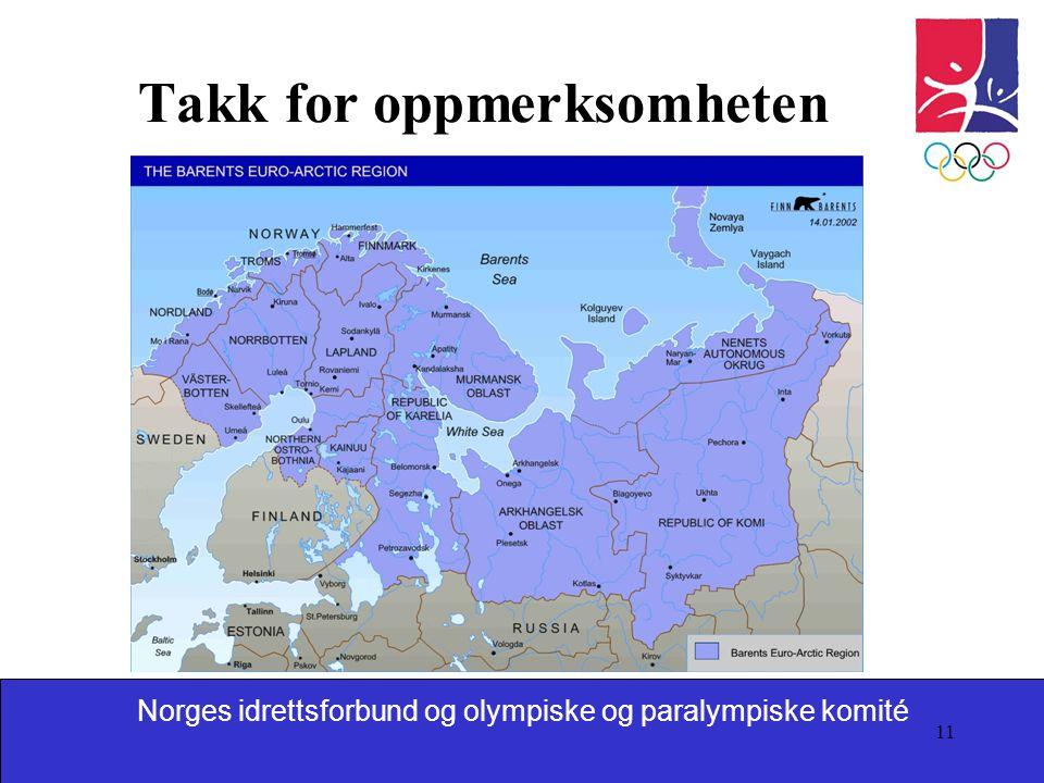 Norges idrettsforbund og olympiske og paralympiske komité 11 Takk for oppmerksomheten