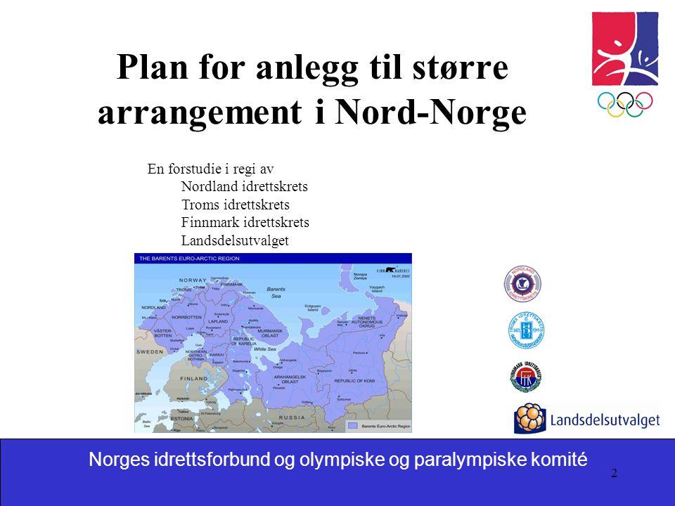 Norges idrettsforbund og olympiske og paralympiske komité 2 Plan for anlegg til større arrangement i Nord-Norge En forstudie i regi av Nordland idrett