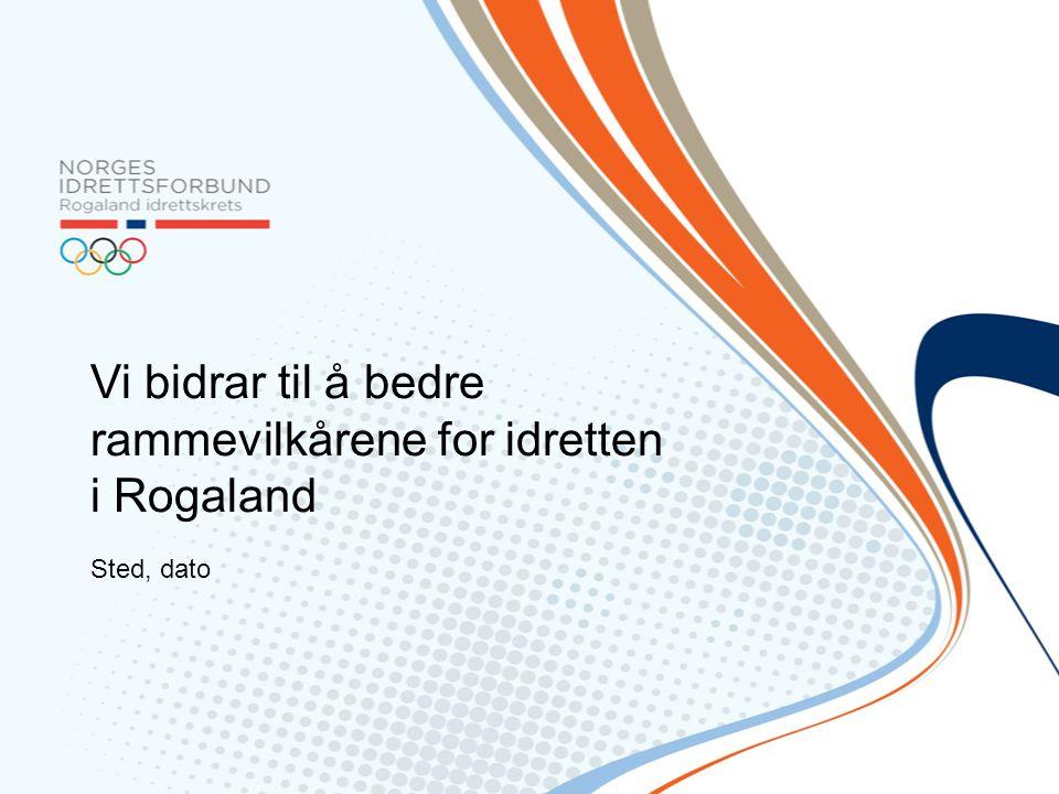 Vi bidrar til å bedre rammevilkårene for idretten i Rogaland Sted, dato