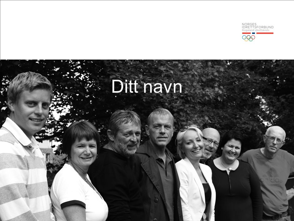 7. juli 2014 2© Norges Idrettsforbund Ditt navn