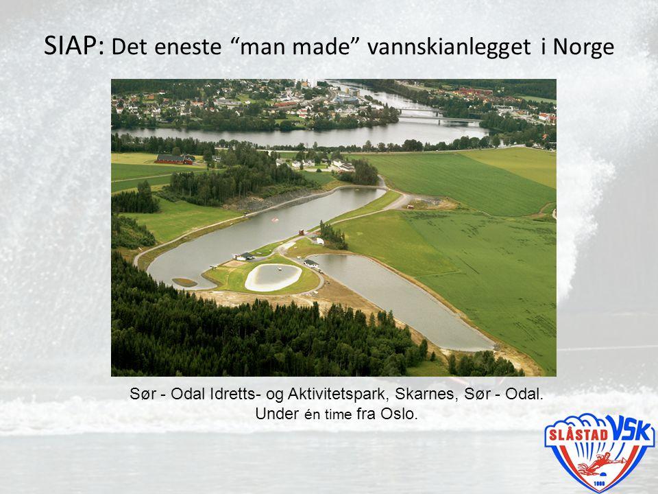 """SIAP: Det eneste """"man made"""" vannskianlegget i Norge Sør - Odal Idretts- og Aktivitetspark, Skarnes, Sør - Odal. Under én time fra Oslo."""