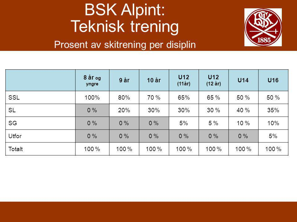 Extra skiing in addition to organized BSK training Have fun on skis.