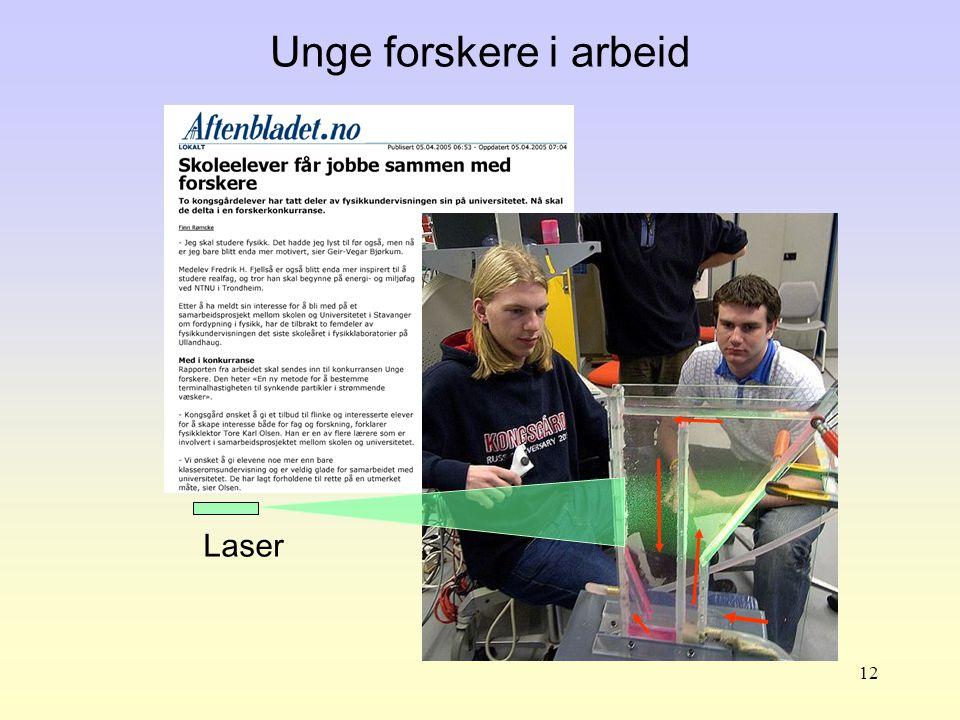 12 Unge forskere i arbeid Laser