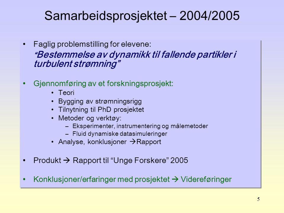 6 Samarbeidspartnere UiS – Kongsgård VGS Fra UiS nytt 13/4-2005 Mandagskameratene Elevene fritatt for 40% av 3FY pensumet til fordel for prosjektet