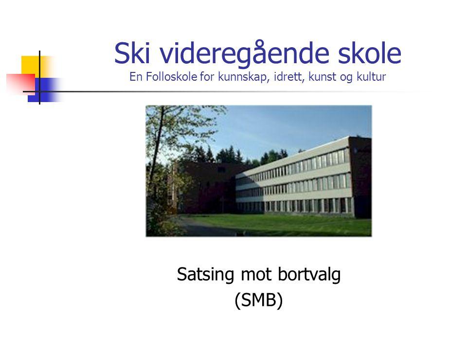 Ski videregående skole En Folloskole for kunnskap, idrett, kunst og kultur Satsing mot bortvalg (SMB)