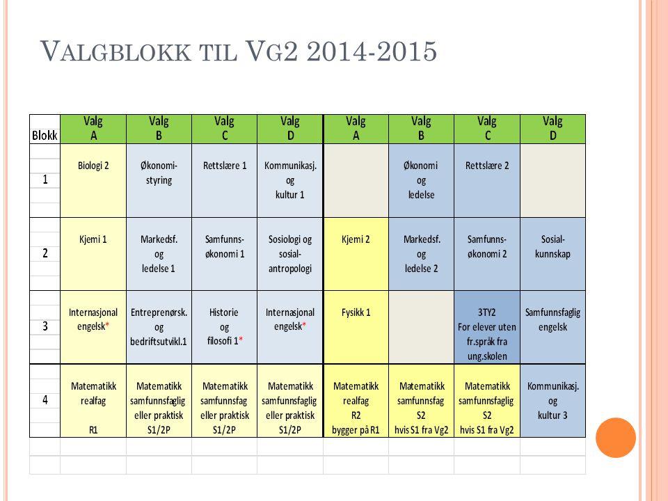 V ALGBLOKK TIL V G 2 2014-2015
