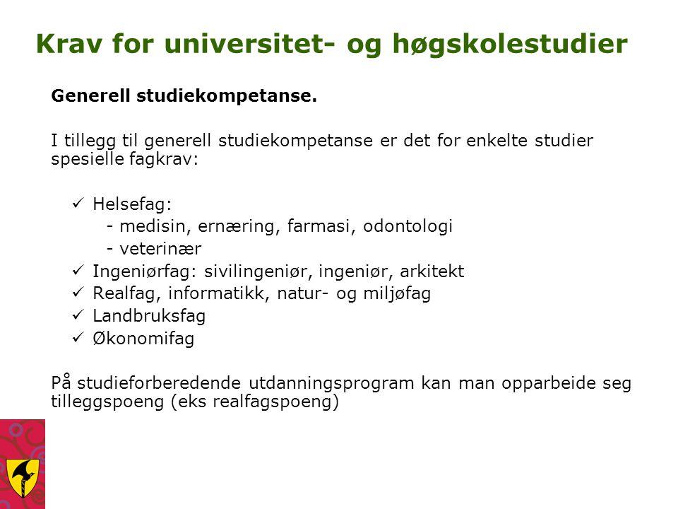 Studiespesialisering med programområdene real og språk - samfunn - økonomi.