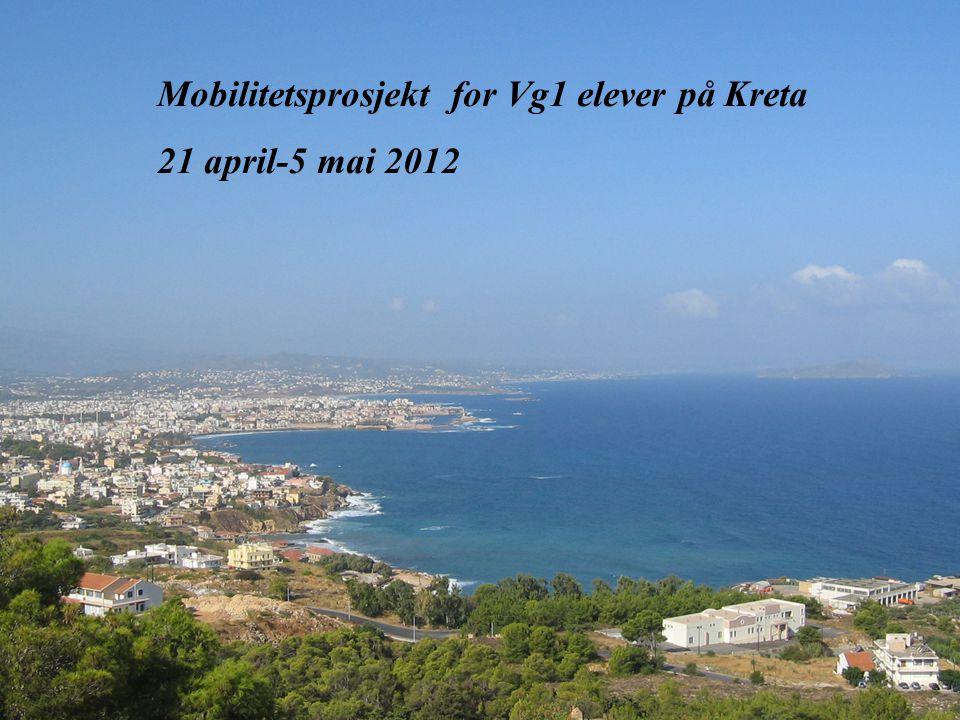 07.07.2014 05:21BJØRKELANGEN VIDEREGÅENDE SKOLE 1 Mobilitetsprosjekt for Vg1 elever på Kreta 21 april-5 mai 2012
