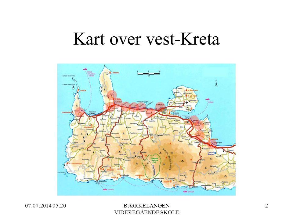 Kart over vest-Kreta 07.07.2014 05:21BJØRKELANGEN VIDEREGÅENDE SKOLE 2