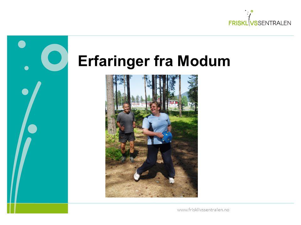 www.frisklivssentralen.no Erfaringer fra Modum