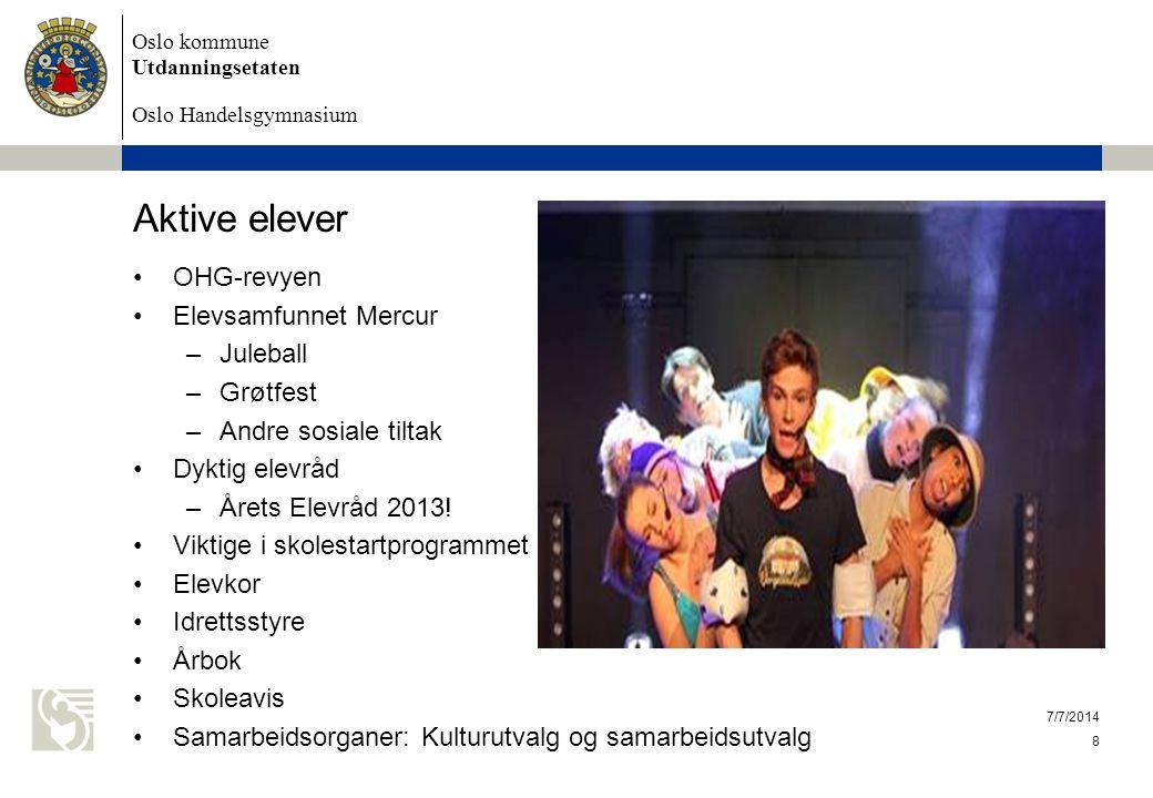Oslo kommune Utdanningsetaten Oslo Handelsgymnasium Karakterresultater våren 2013 (se også Skoleporten.no) Standpkt.