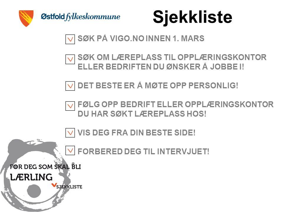 SØK PÅ VIGO.NO INNEN 1.