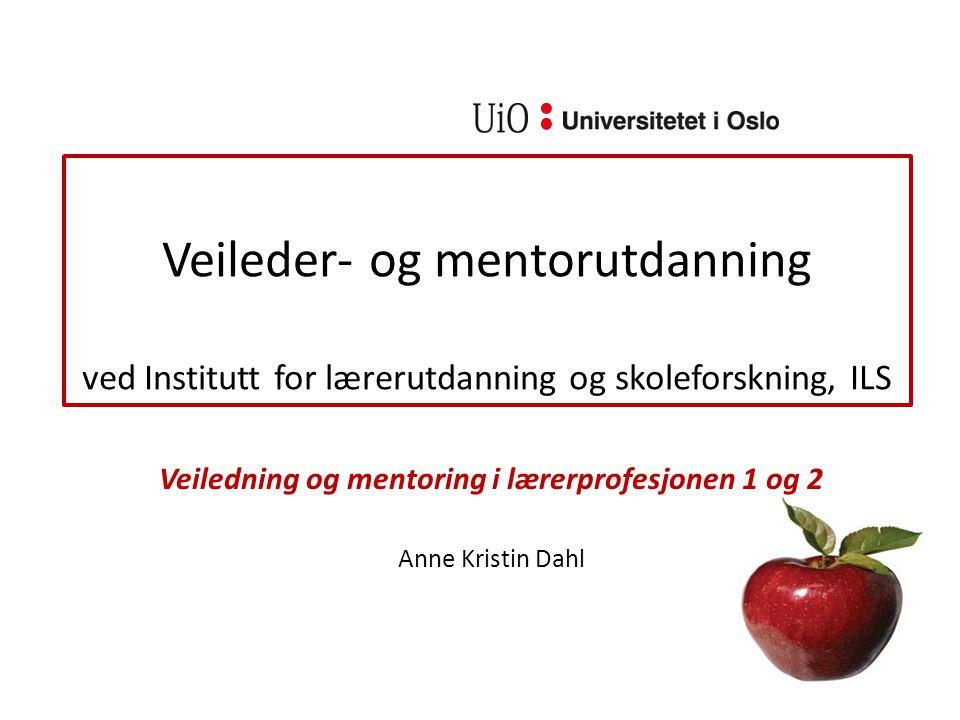 Hvorfor mentorutdanning.