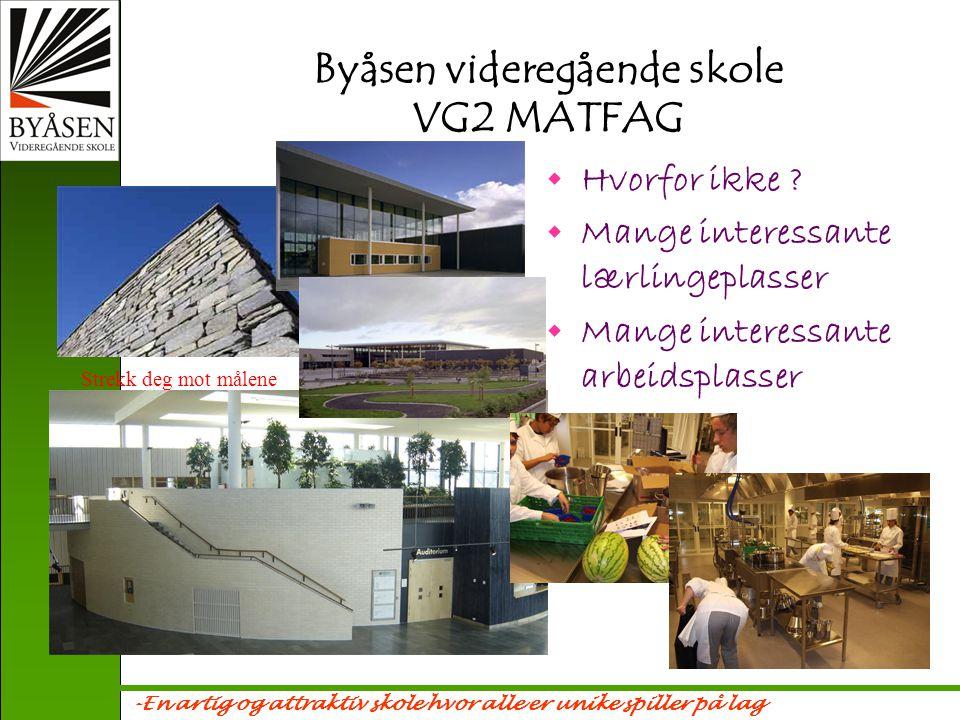 -En artig og attraktiv skole hvor alle er unike spiller på lag HVA ER MATFAG .