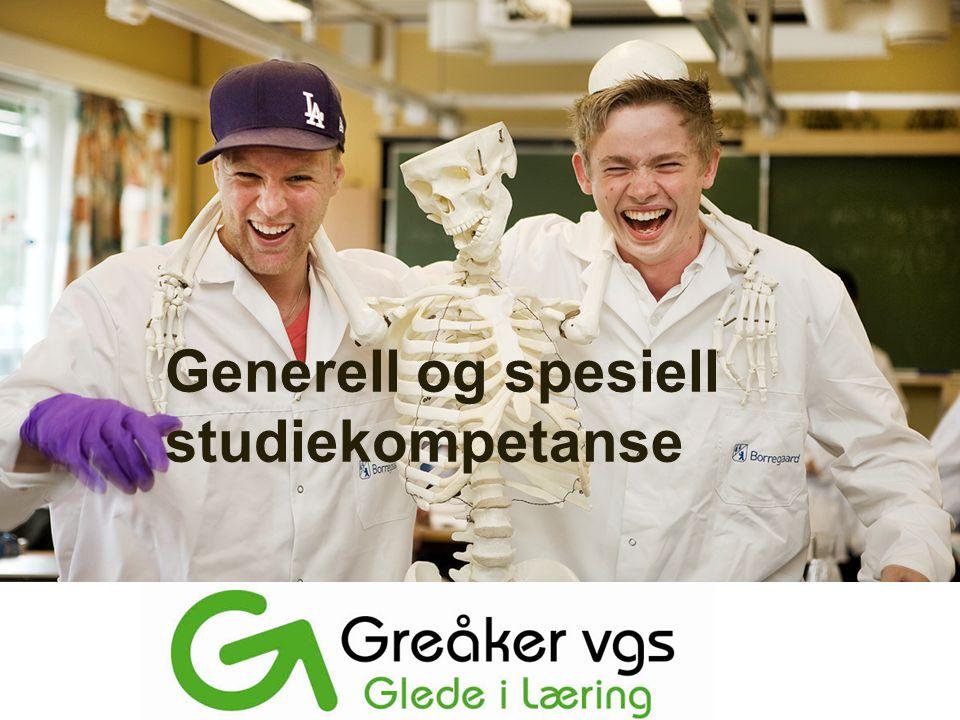Generell og spesiell studiekompetanse