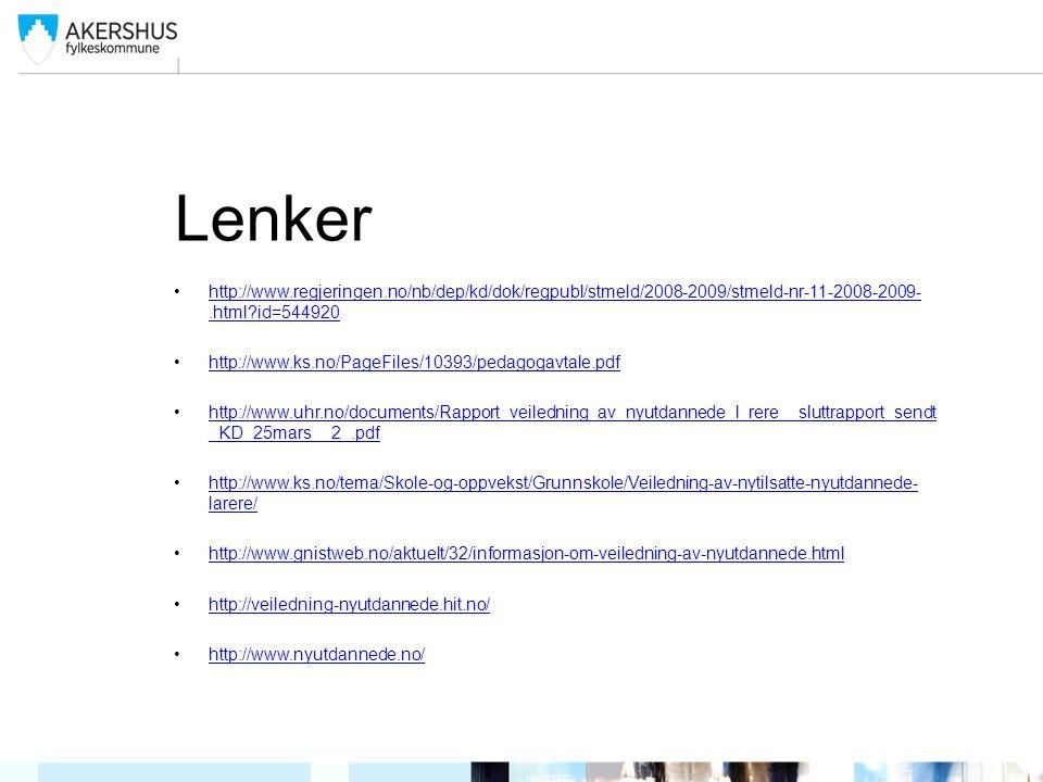 Lenker http://www.regjeringen.no/nb/dep/kd/dok/regpubl/stmeld/2008-2009/stmeld-nr-11-2008-2009-.html?id=544920http://www.regjeringen.no/nb/dep/kd/dok/