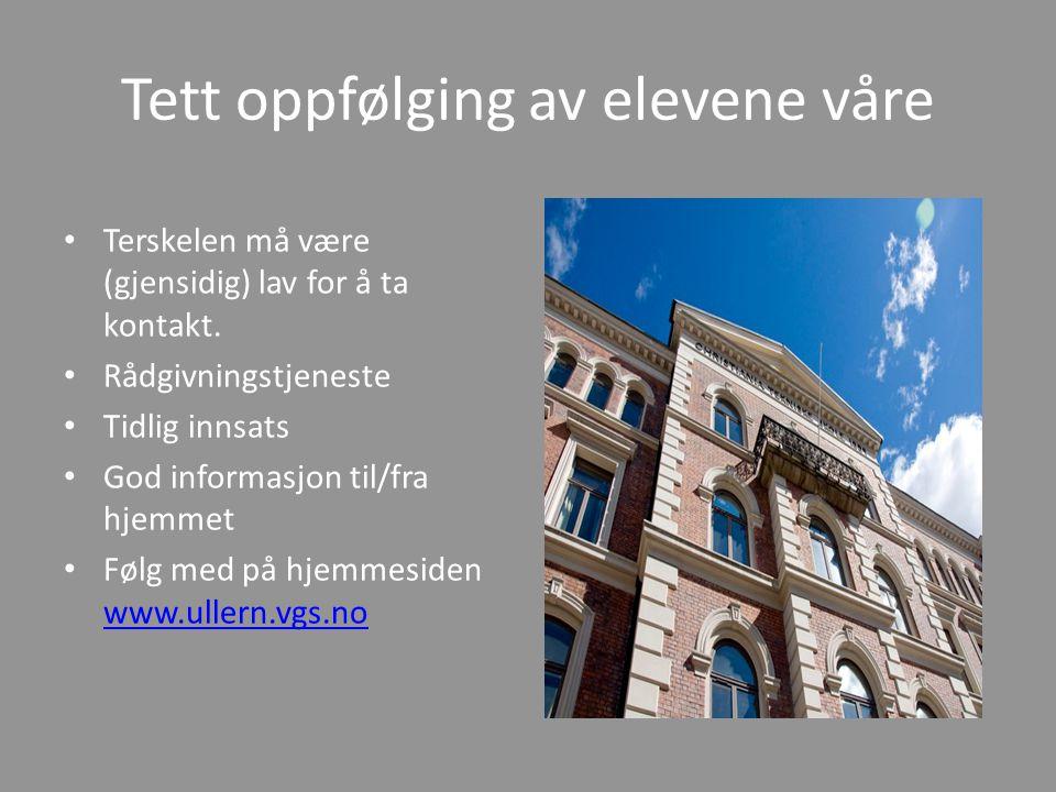 ULLERN VIDEREGÅENDE SKOLE Foreldrelaget på Ullern