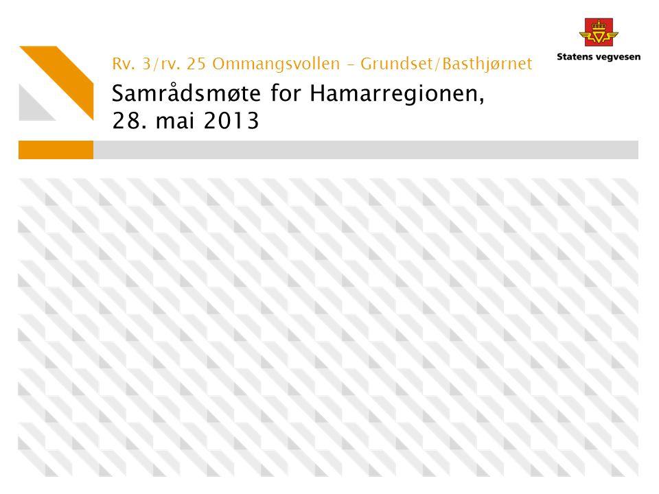 Samrådsmøte for Hamarregionen, 28. mai 2013 Rv. 3/rv. 25 Ommangsvollen – Grundset/Basthjørnet