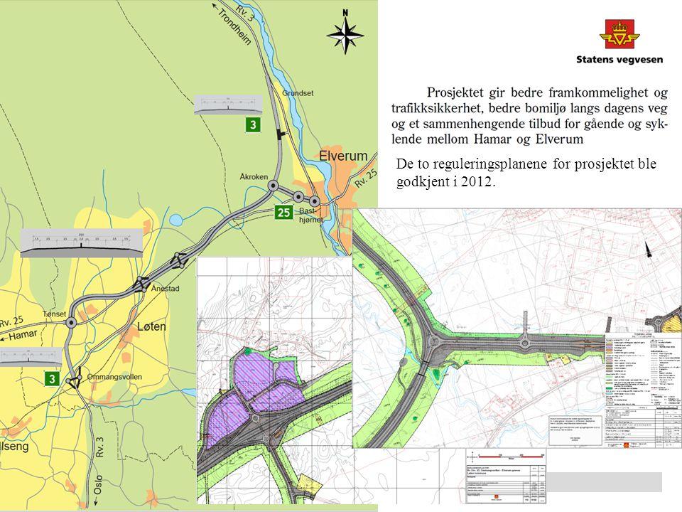 De to reguleringsplanene for prosjektet ble godkjent i 2012.