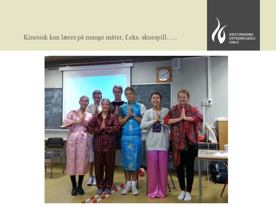 Kinesisk kan læres på mange måter, f.eks. skuespill…..
