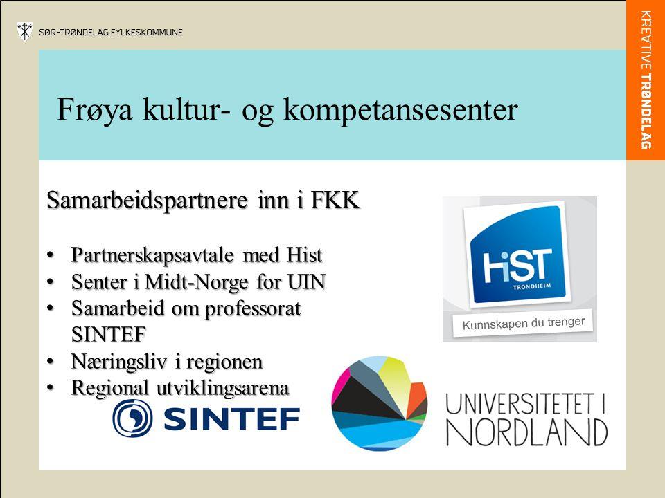 Samarbeidspartnere inn i FKK Partnerskapsavtale med Hist Partnerskapsavtale med Hist Senter i Midt-Norge for UIN Senter i Midt-Norge for UIN Samarbeid