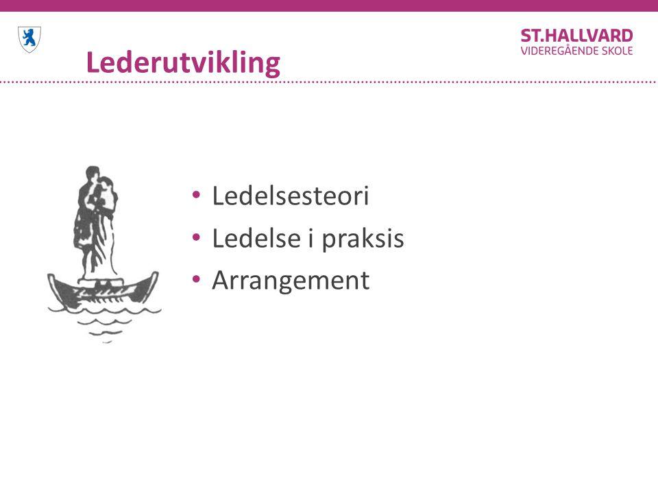 Lederutvikling Ledelsesteori Ledelse i praksis Arrangement