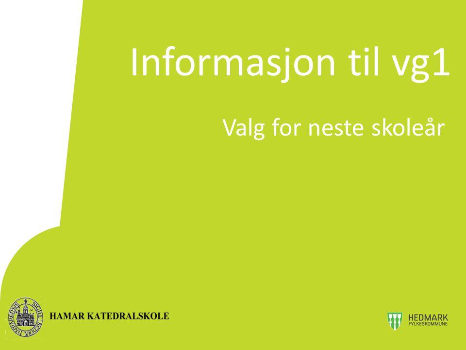  Alle må søke om inntak til Vg2 www.vigo.no  Inntakskontoret foretar inntaket  Søknadsfrist 1.