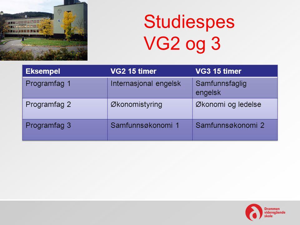 Studiespes VG2 og 3
