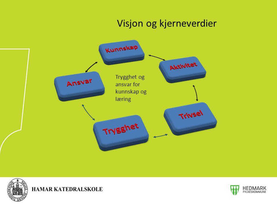 Visjon og kjerneverdier Trygghet og ansvar for kunnskap og læring