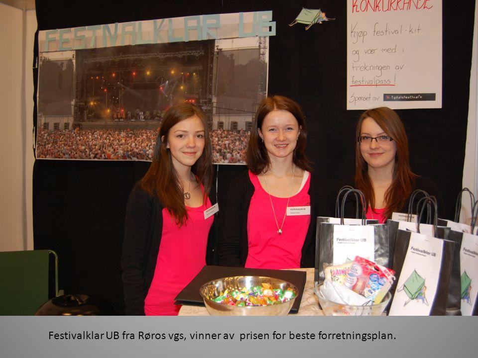 Festivalklar UB fra Røros vgs, vinner av prisen for beste forretningsplan.