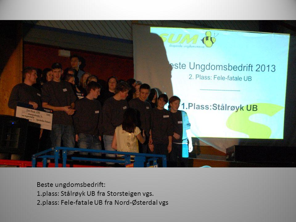 Beste ungdomsbedrift: 1.plass: Stålrøyk UB fra Storsteigen vgs.