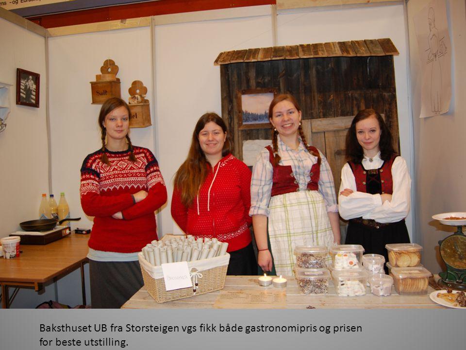 Baksthuset UB fra Storsteigen vgs fikk både gastronomipris og prisen for beste utstilling.