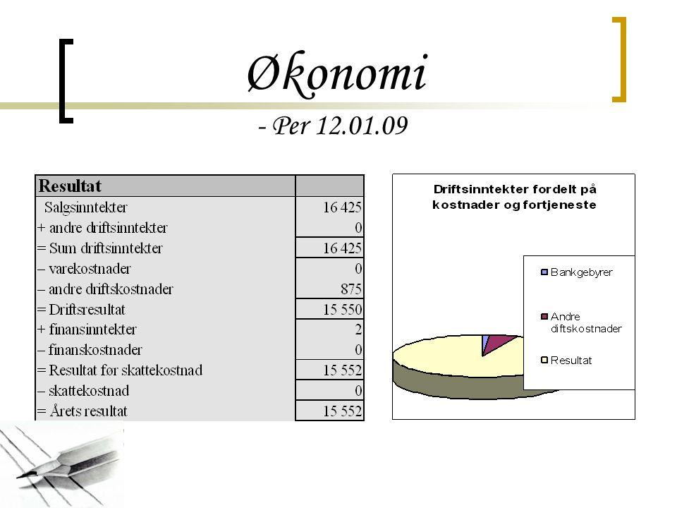 Økonomi - Per 12.01.09
