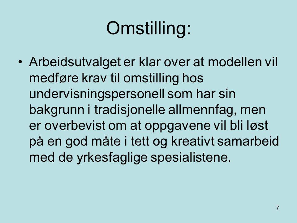 8 Læringsutbytte: M1 Yrkesrettede realfagsemner.