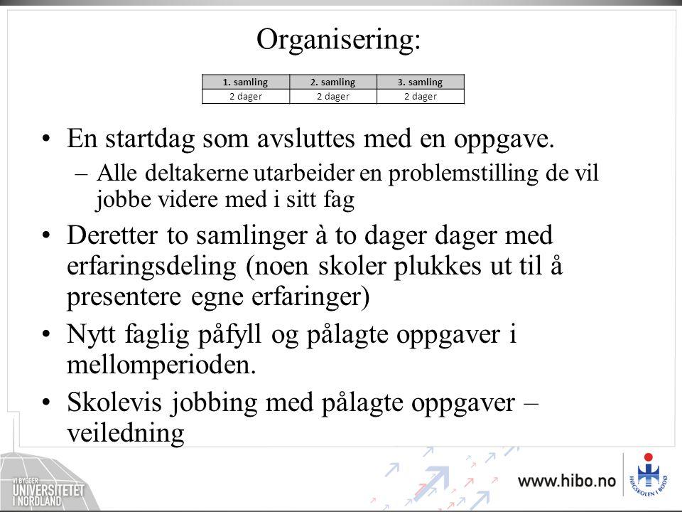 Hva tror vi på når det gjelder organisering.