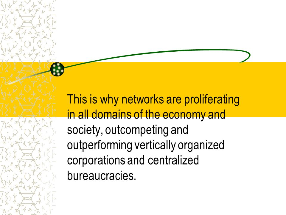Nettverk er en metafor Verdinettverk Verdiverksted Verdikjede Individer i sosiale nettverk og organisasjoner i nettverk Industrielle clustre Virtuelle organisasjoner