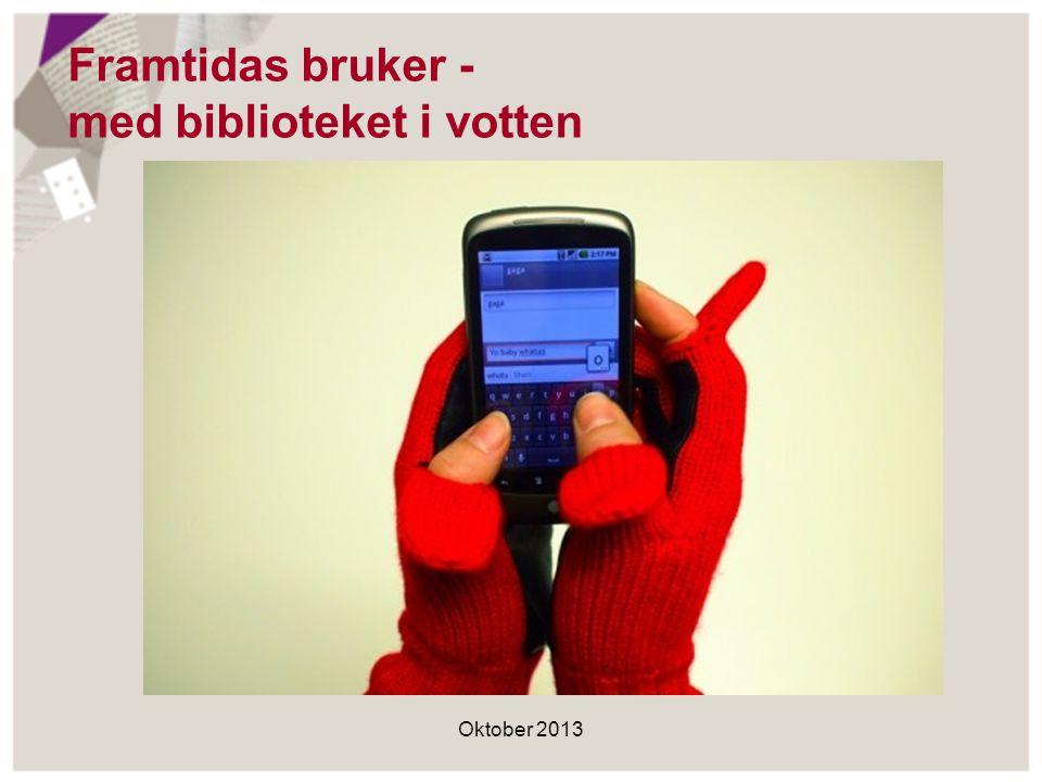 Framtidas bruker - med biblioteket i votten Oktober 2013