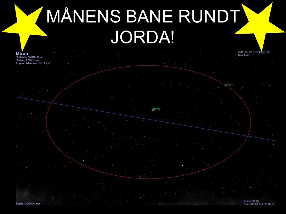 MÅNENS BANE RUNDT JORDA!