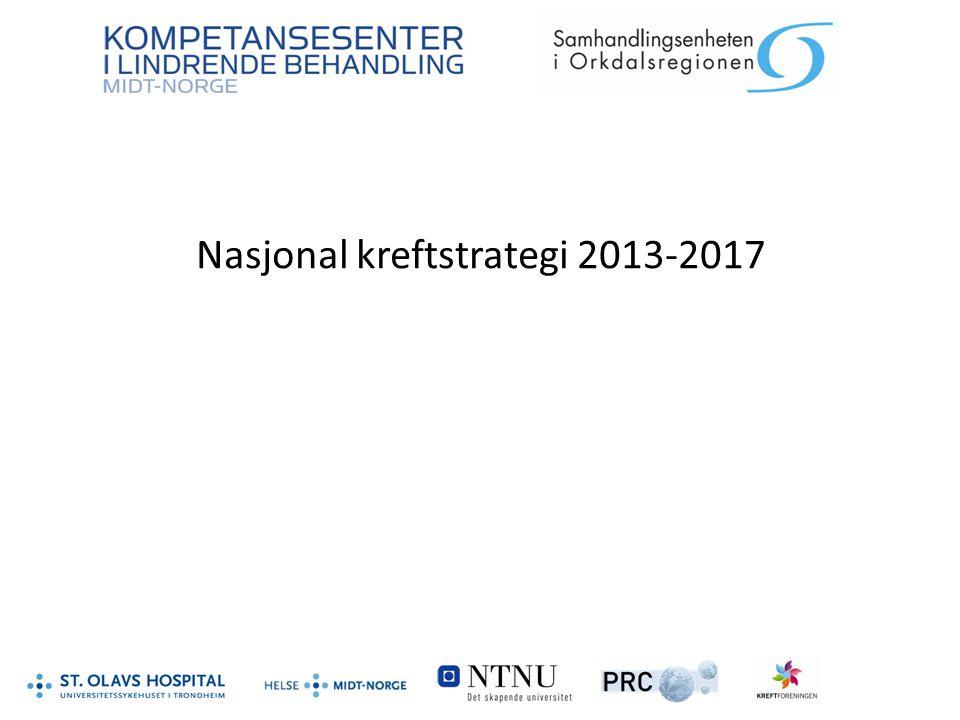 Nasjonal kreftstrategi 2013-2017