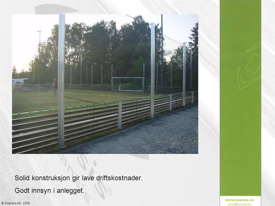 © Scansis AS - 2008 Anlegget leveres med integrerte frittstående fotballmål