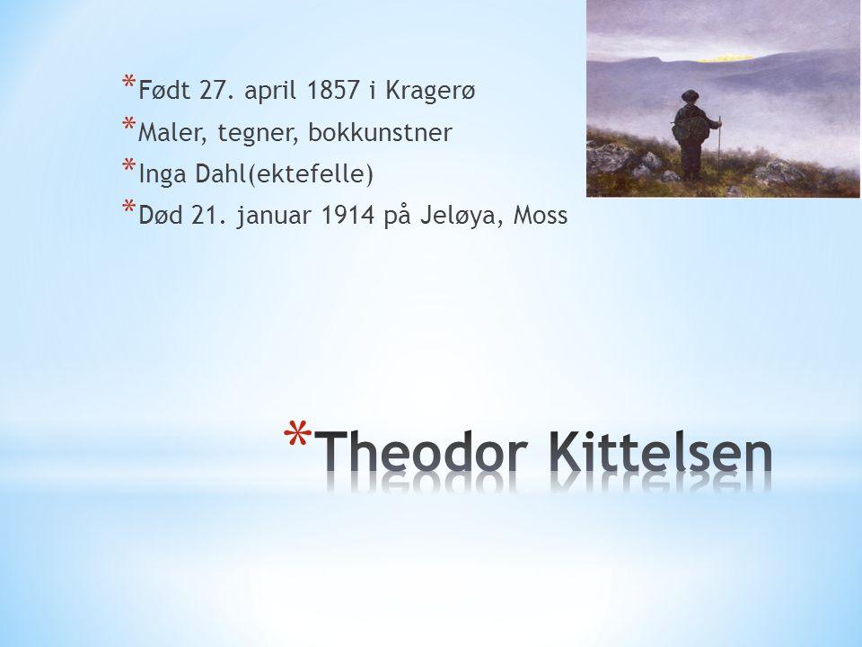 * Født 27. april 1857 i Kragerø * Maler, tegner, bokkunstner * Inga Dahl(ektefelle) * Død 21. januar 1914 på Jeløya, Moss