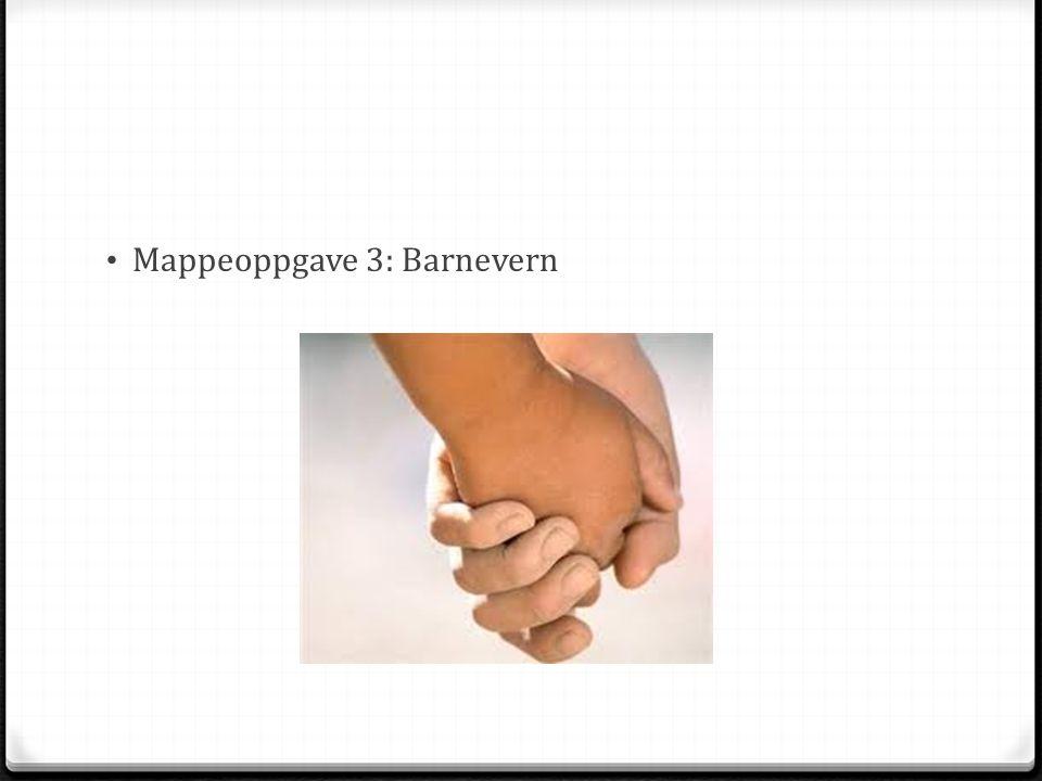 Mappeoppgave 3: Barnevern