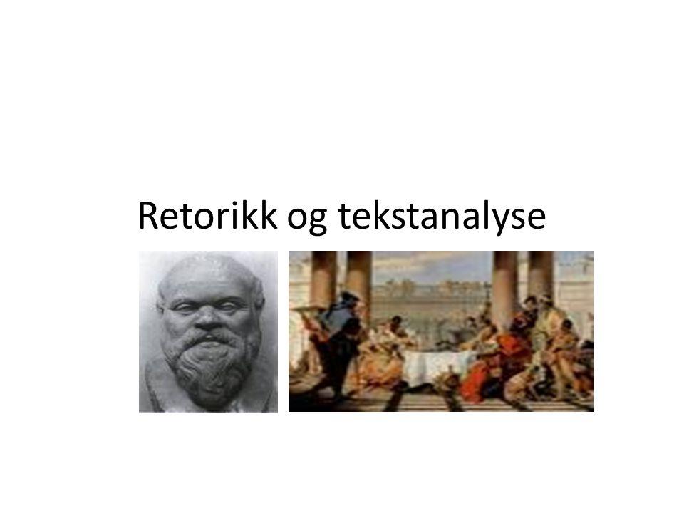 Retorikk og tekstanalyse