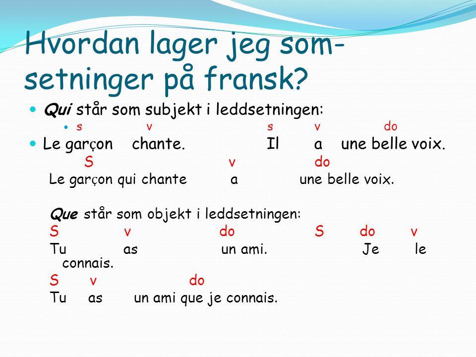 Som setninger norsk