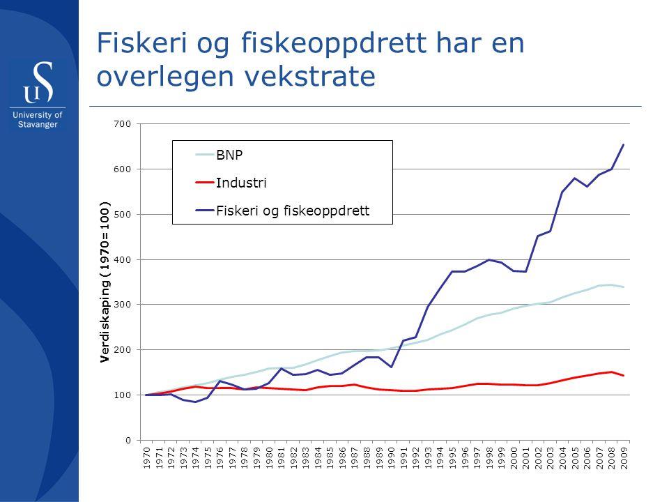 Forutsetninger for videre vekst i fremtiden Fortsatt industrialisering (=konsolidering, oppskalering, profesjonalisering) av verdikjeden fra fiske/oppdrett til primærbearbeiding Internasjonalisering av biomarin ingrediensindustri i flere dimensjoner Bygge en annen kultur enn den som har preget deler av norsk marin sektor