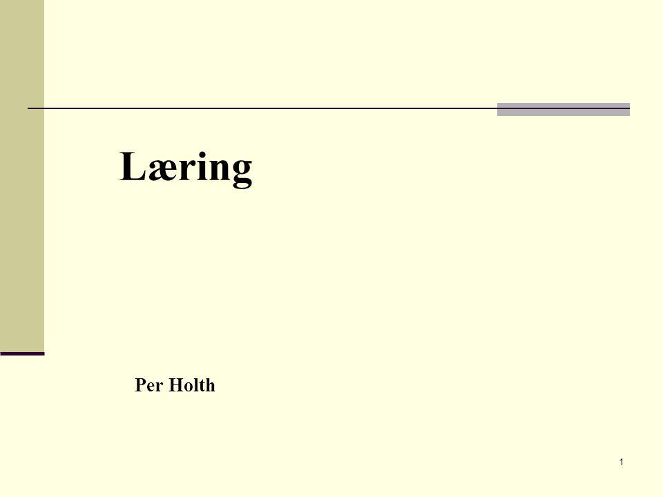 1 Læring Per Holth