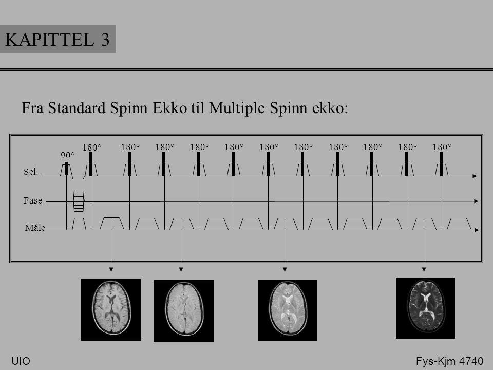 KAPITTEL 3 Fra Standard Spinn Ekko til Multiple Spinn ekko: Sel. Fase Måle 90° 180° UIO Fys-Kjm 4740