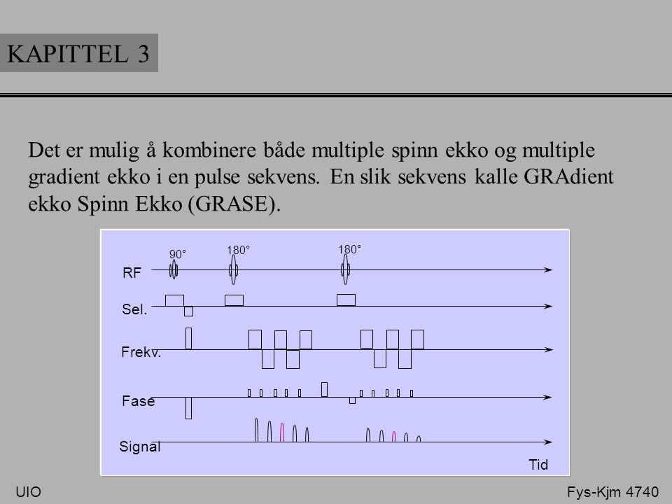 KAPITTEL 3 Det er mulig å kombinere både multiple spinn ekko og multiple gradient ekko i en pulse sekvens. En slik sekvens kalle GRAdient ekko Spinn E