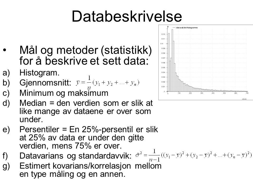 Sannsynlighet Sannsynlighet for et spesifisert utfall mellom 0 og 1 (0%- 100%).