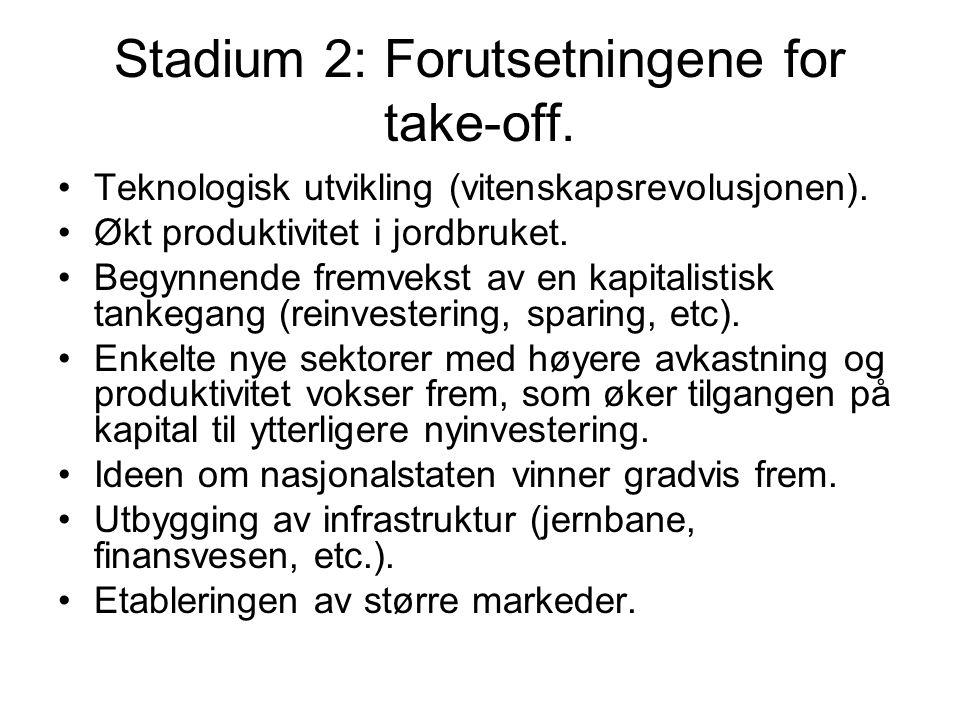 Stadium 2: Forutsetningene for take-off.Teknologisk utvikling (vitenskapsrevolusjonen).